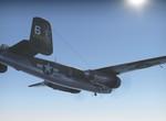 B-25 při letu na cíl