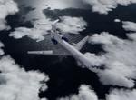 Tu-154 nad Jaderským mořem