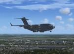 C-17A RAF na přistání v Praze