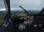 Přiblížení na dráhu 06 v LKPR za bouřky