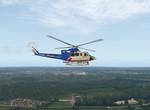 Bell412 nad Jižní Anglií