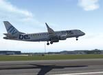 E175 po vzlete z Glasgow