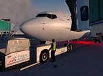Pushback Praha airport