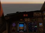 Západ slunce při klesání do Malagy