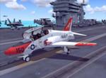 Po přistání na letadlové lodi USS Nimitz