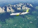Air Baltic nad Vysokými Tatrami