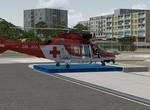 Agusta 109 na heliportu Kryštof 12