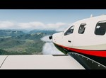 XPLANE 11 / Hotstart TBM 900 LOWI LOC 26 R RWY APP in clouds & turbulences and very bad flare then.
